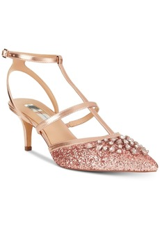 INC International Concepts I.n.c. Carma Evening Kitten Heel Pumps, Created For Macy's Women's Shoes