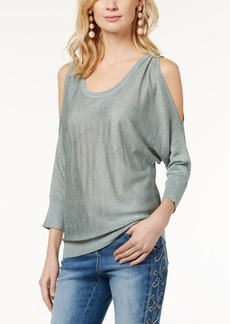 INC International Concepts I.n.c. Petite Metallic Cold-Shoulder Sweater, Created for Macy's