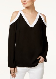 Inc International Concepts Colorblocked Cold-Shoulder Top, Only at Macy's