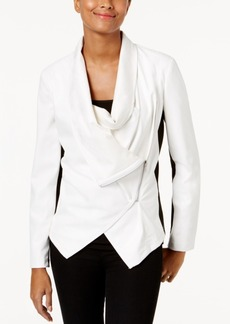 Inc International Concepts Colorblocked Faux-Leather Jacket, Created for Macy's
