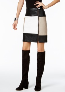 Inc International Concepts Colorblocked Faux-Leather Pencil Skirt, Only at Macy's