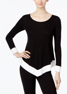 Inc International Concepts Colorblocked Handkerchief-Hem Sweater, Only at Macy's