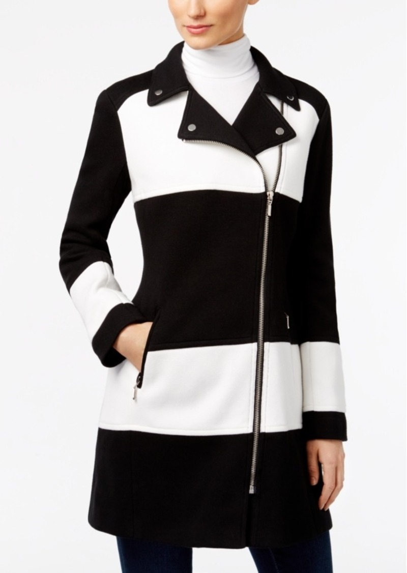 Inc International Concepts Colorblocked Moto Jacket, Created for Macy's