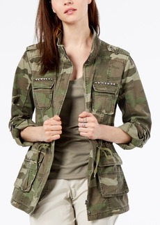 I.n.c. Camouflage-Print Utility Jacket, Created for Macy's
