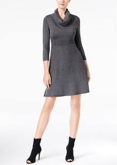 Inc International Concepts Cowl-Neck Fit & Flare Sweater Dress, Created for Macy's