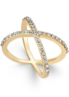 Inc International Concepts Criss Cross Rhinestone Rings, Created for Macy's