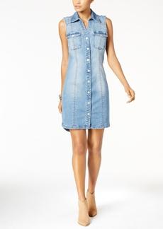 Inc International Concepts Crochet Back Shirtdress, Created for Macy's
