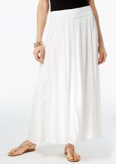 Inc International Concepts Crochet-Trim Maxi Skirt, Created for Macy's
