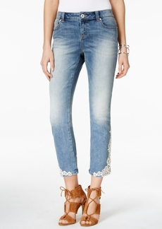Inc International Concepts Cropped Embroidered Jeans, Only at Macy's