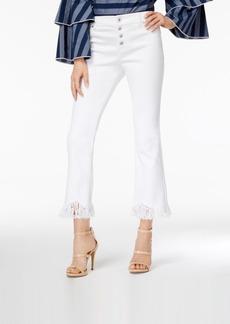 I.n.c. Cropped Fringe-Trim Jeans, Created for Macy's