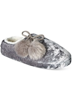 Inc International Concepts Crushed Velvet Clog Slippers, Only at Macy's