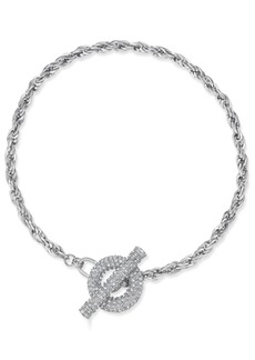 "Inc International Concepts 17.5"" Crystal Toggle Chain Necklace, Only at Macy's"