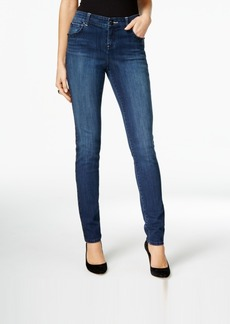 Inc International Concepts Curvy Dark Blue Wash Skinny Jeans, Only at Macy's