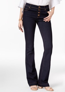 Inc International Concepts Curvy-Fit Ink Wash Flare-Leg Jeans, Only at Macy's