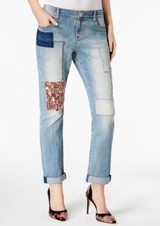 Inc International Concepts Curvy Patched Boyfriend Jeans, Created for Macy's