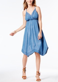 Inc International Concepts Denim Handkerchief-Hem Dress, Created for Macy's
