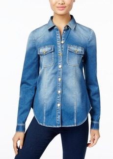 Inc International Concepts Petite Denim Shirt, Only at Macy's