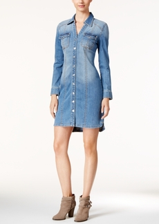 Inc International Concepts Denim Shirtdress, Only at Macy's