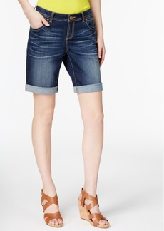 Inc International Concepts Curvy-Fit Denim Shorts, Only at Macy's