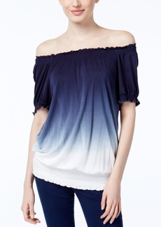 Inc International Concepts Dip-Dyed Off-The-Shoulder Top, Only at Macy's