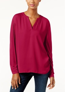 Inc International Concepts Dolman-Sleeve Split-Neck Top, Only at Macy's
