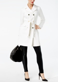 Inc International Concepts Double-Breasted Belted Ponte-Knit Coat, Created for Macy's
