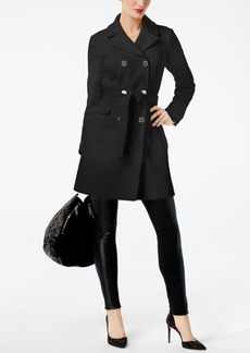 Inc International Concepts Double-Breated Belted Ponte-Knit Coat, Created for Macy's
