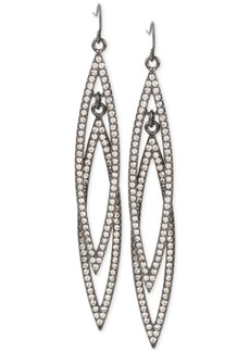 M. Haskell for Inc International Concepts Double Navette Pave Crystal Earrings, Only at Macy's