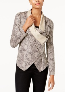 Inc International Concepts Draped Snake-Embossed Jacket, Created for Macy's