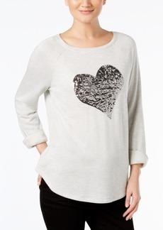 INC International Concepts I.n.c. Embellished Heart Sweatshirt, Created for Macy's