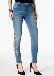 Inc International Concepts Embellished Skinny Jeans, Created for Macy's