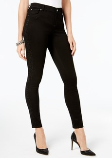 Inc International Concepts Curvy Embellished Side-Stripe Skinny Jeans, Created for Macy's