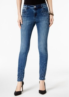 Inc International Concepts Curvy Embellished Skinny Jeans, Created for Macy's