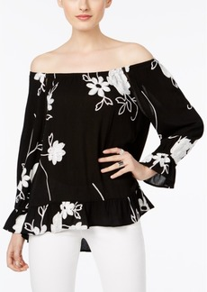 INC International Concepts I.n.c. Embroidered Off-The-Shoulder Top, Created for Macy's