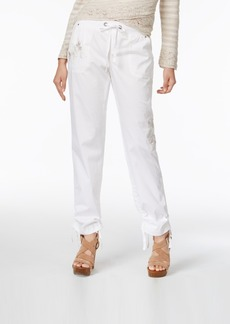 Inc International Concepts Embroidered Curvy-Fit Cargo Pants, Only at Macy's