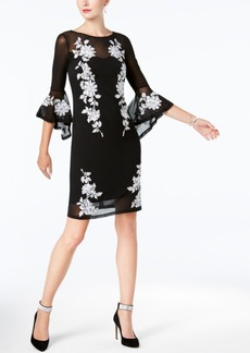 Inc International Concepts Petite Embroidered Illusion Dress, Created for Macy's