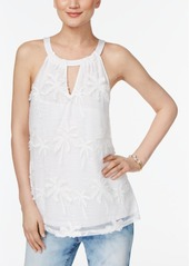 Inc International Concepts Embroidered Halter Top, Created for Macy's