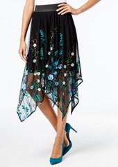 Inc International Concepts Embroidered Handkerchief-Hem Skirt, Created for Macy's