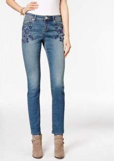Inc International Concepts Embroidered Sail Wash Skinny Jeans, Only at Macy's