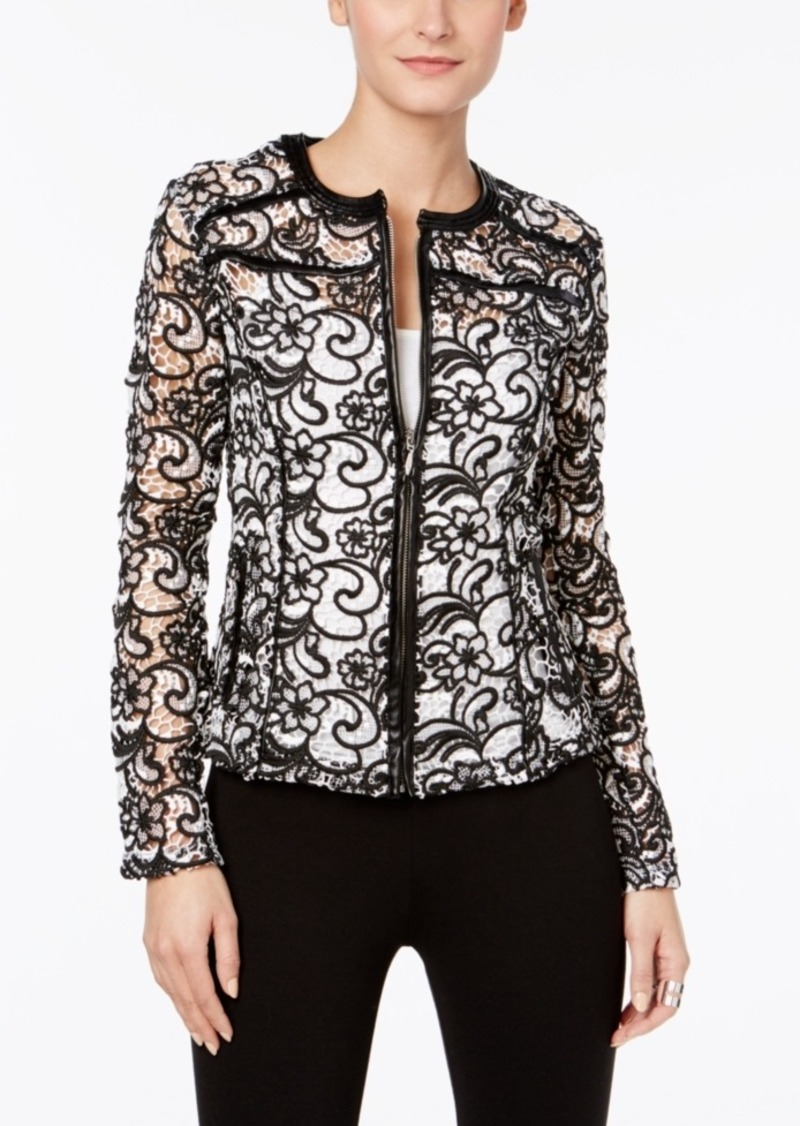 Inc International Concepts Embroidered Sheer Lace Jacket, Only at Macy's