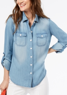 INC International Concepts I.n.c. Petite Embroidered Shirt, Created for Macy's