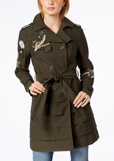 Inc International Concepts Embroidered Trench Coat, Created for Macy's
