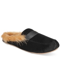 Inc International Concepts Faux-Fur Slide Slippers, Created for Macy's