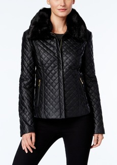 INC International Concepts I.n.c. Quilted Faux-Leather Jacket, Created for Macy's