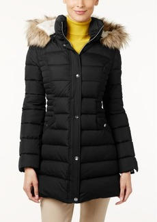 Inc International Concepts Faux-Fur-Trim Hooded Puffer Coat, Only at Macy's