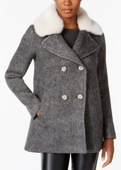 INC International Concepts I.n.c. Faux-Fur-Trim Peacoat, Created for Macy's