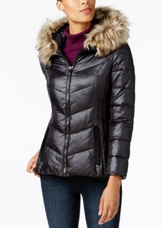 I.n.c. Faux-Fur-Trim Puffer Coat, Created for Macy's