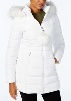 Inc International Concepts Faux-Fur-Trim Puffer Coat, Created for Macy's