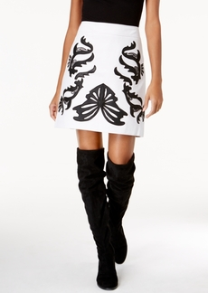 Inc International Concepts Faux-Leather Applique Mini Skirt, Created for Macy's