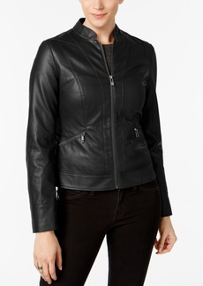Inc International Concepts Faux-Leather Moto Jacket, Created for Macy's
